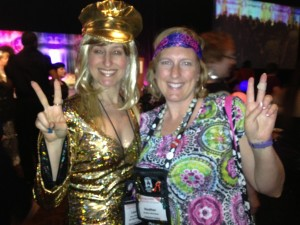Laura Navarre and Heather McCollum at the Disco Party.