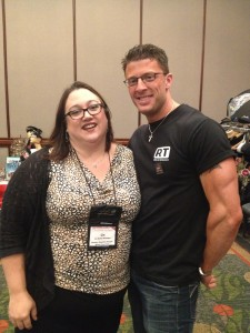 Liz Bemis with Scott (one of the handsome cover models).