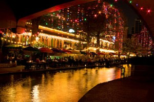 The San Antonio Riverwalk. Photo courtesy Wikimedia Commons, credit to Magicknight94.