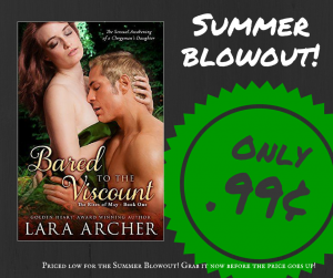 zoey Bared to the Viscount by Lara Archer