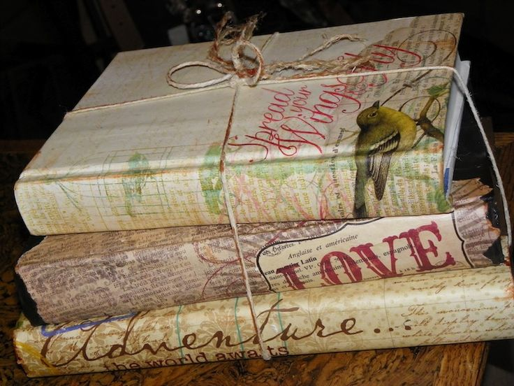 How To Make A Vintage Book Cover ~ Ruby slippered sisterhood decoupage books