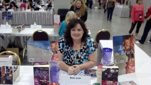 Kim Law at Saturday's Book Fair.