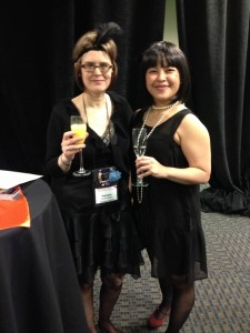 Tamara Hogan and Jeannie Lin at the Jazz Breakfast