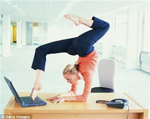 yoga on desk