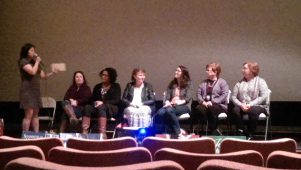 From left to right: Jeannie Lin (moderator), Angie Fox, Shawntelle Madison, Lynn Cahoun, Amanda Heger, Eileen Dreyer, Claudia Shelton