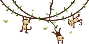 monkeys swinging