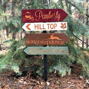 Classic Literature Directional Signs by HauserHouseCreations (Image Courtesy of HauserHouseCreations Etsy Site)