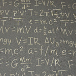chalkboard with equations